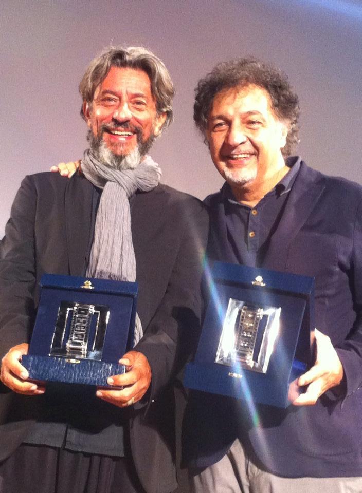 premiazione Nastri d'argento a Taormina di Pivio e Aldo De Scalzi
