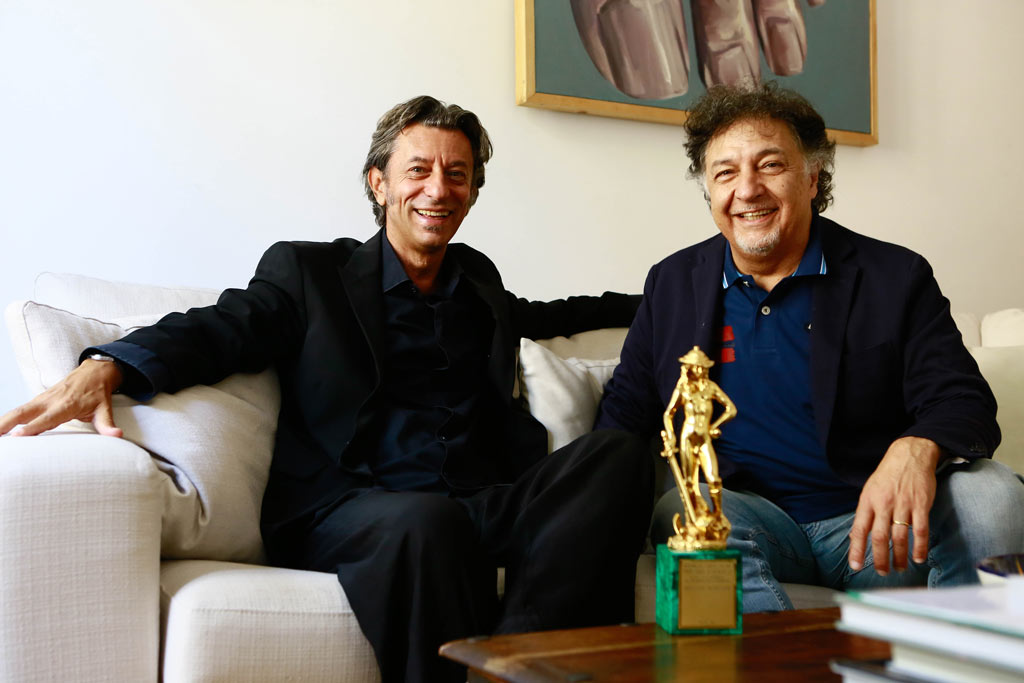 Pivio e Aldo De Scalzi con il David di Donatello 2014