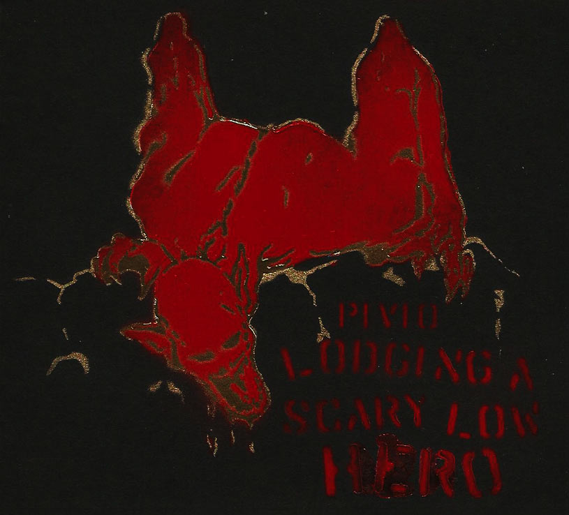 Lodging a Scary Low Heroes - nero cover rosso e oro