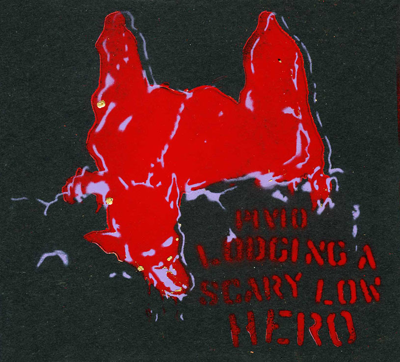 Lodging a Scary Low Heroes - nero cover rosso e viola